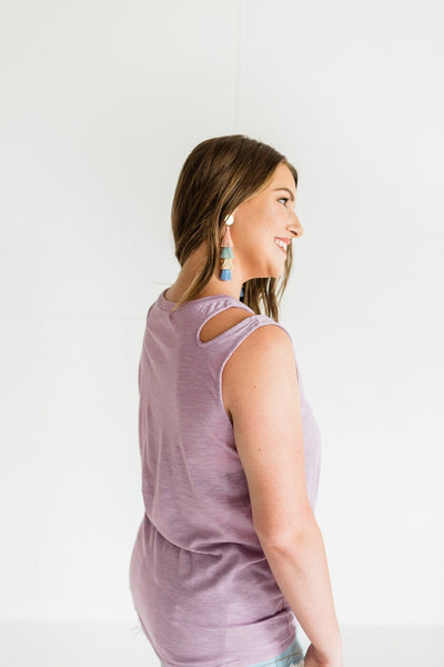 Effortless Style Tank Top- Lavender