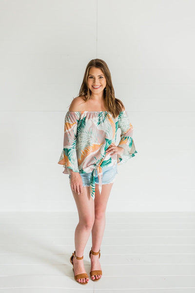 Paradise Dreaming Top- Sage