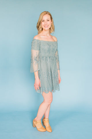 End of the Road Off Shoulder Dress