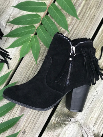Walkaway Joe Suede Booties -  Black & Brown
