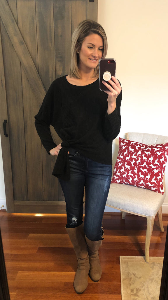 Back To Basics Everyday Thermal Top- Black