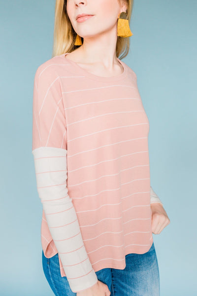 For The Chill Factor Top- Dusty Pink