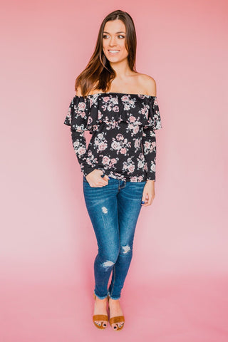 Off the Wall Floral Top