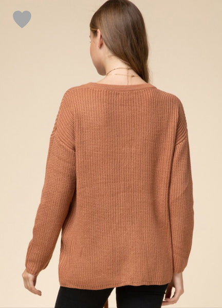 Tie One on Sweater - Desert Sand