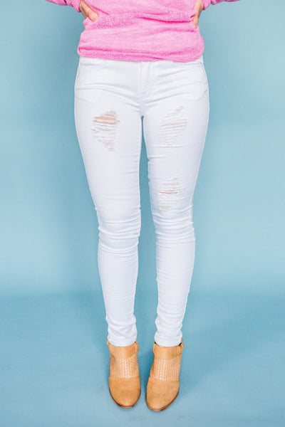 White Knight Distressed Pants