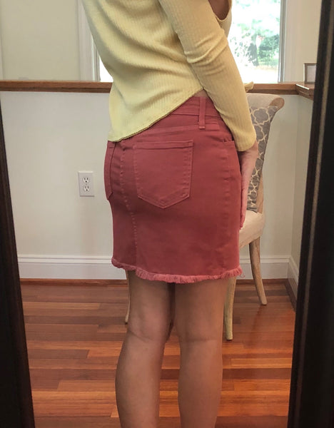 *My Ride or Die Skirt- Burgundy/ Rusty Mauve