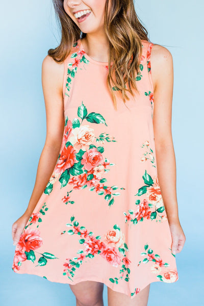 Daydream Believer Dress- Peach