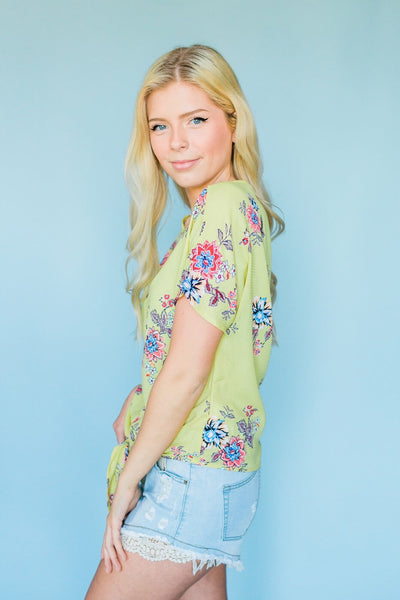 Good For A Smile Floral Top- Yellow