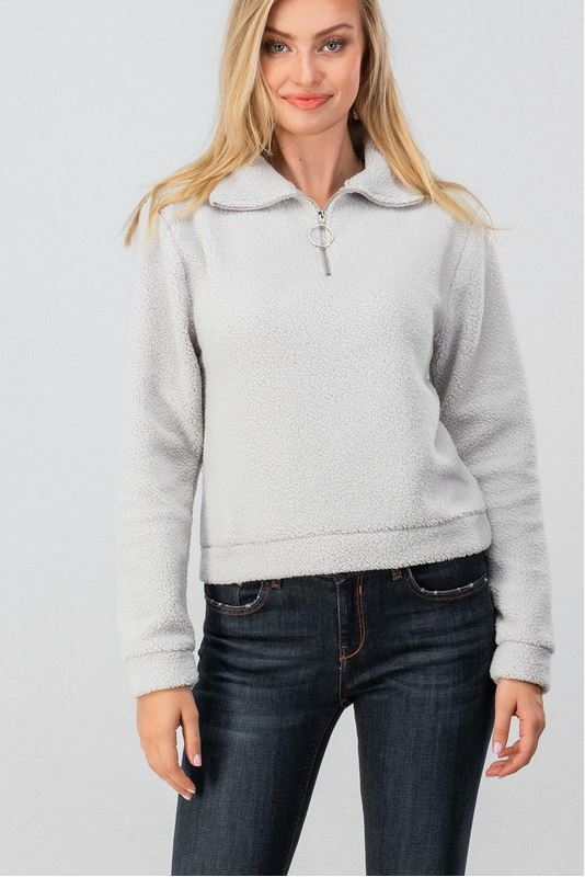 Your Perfect Match Pullover- Light Grey