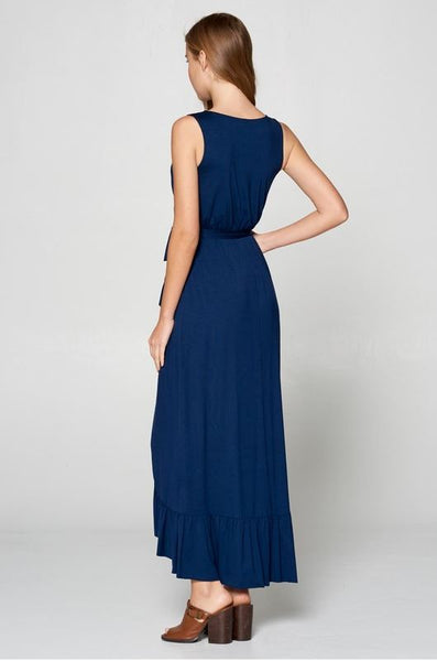 Ready To Step Out Maxi Dress- Navy