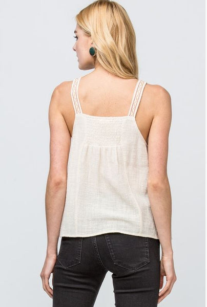 All Out Of Sorts Tank Top- Neutral