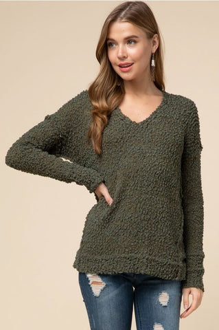 Can't Get Enough of Your Love Sweater- Olive