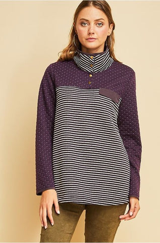 For The Chill Of Fall Pullover- Plum