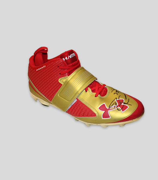 2014 Autographed Red & Gold Game Worn Cleats vs Dallas Cowboys