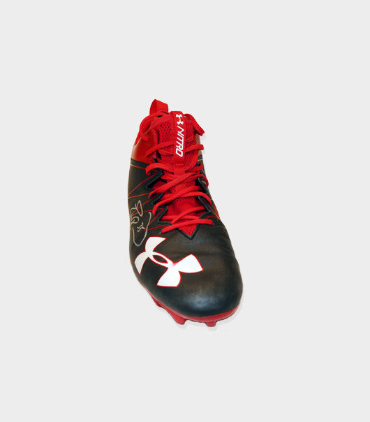Autographed Black & Red 2016 Game Worn Cleats vs Arizona Cardinals