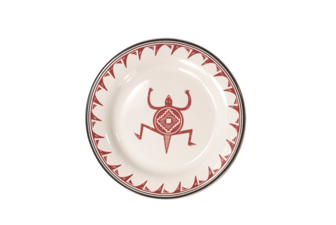 "Mimbreño Bread & Butter Plate - ""Lizard"" Design"