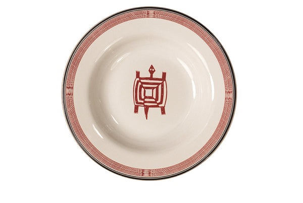 Mimbreño Rimmed Soup Bowl - Turtle Design