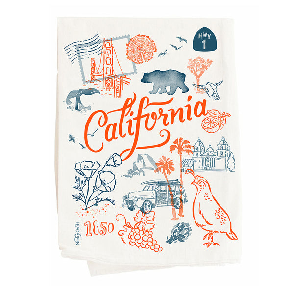 """California"" Kitchen Towel"