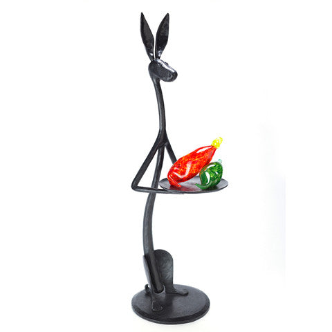 """HARVEY"" Cast Bronze Jackrabbit with Tray - 30"" & 15"""