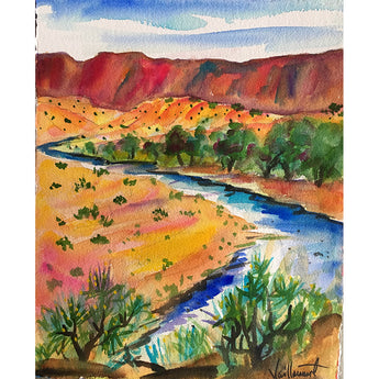 "Sandy Vaillancourt, ""Chama River View"" 