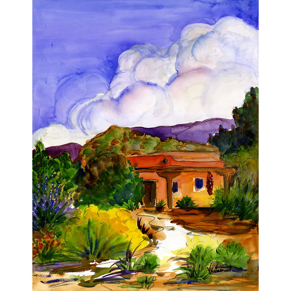 Sandy Vaillancourt, Thunder Clouds Above Santa Fe| PRINT