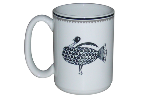 "Mimbreño Mug -""Turkey"" Design 15oz"
