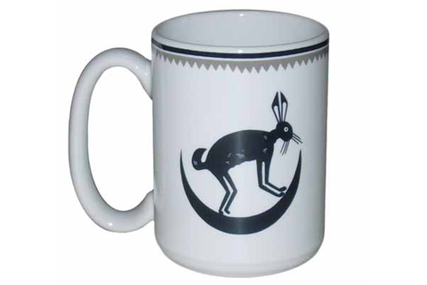 Mimbreño Mug March Hare in Crescent Moon - 11 oz & 15oz