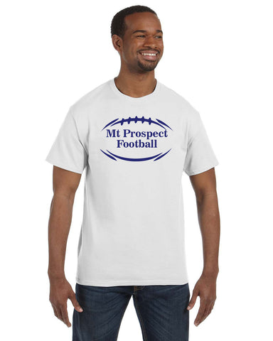 White Adult Crew Neck Tee