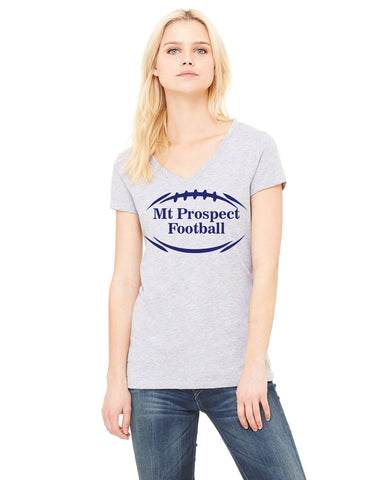 Heather Grey Women's Designer V-Neck Tee