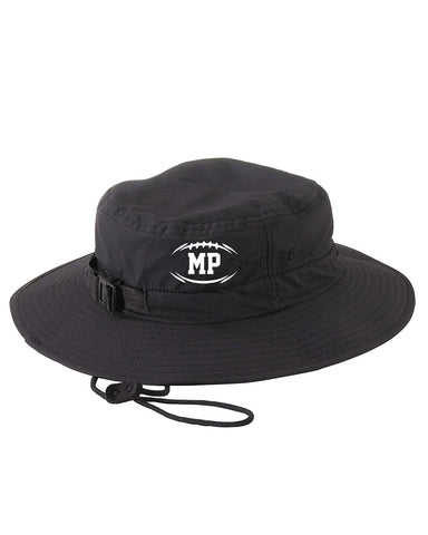 BLACK SIDELINE BUCKET HAT