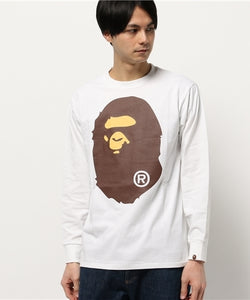 Big Ape Head Long Sleeve (White) - Bape