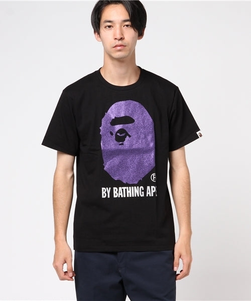 Glitter By Bathing Tee (Black/Purple) - Bape