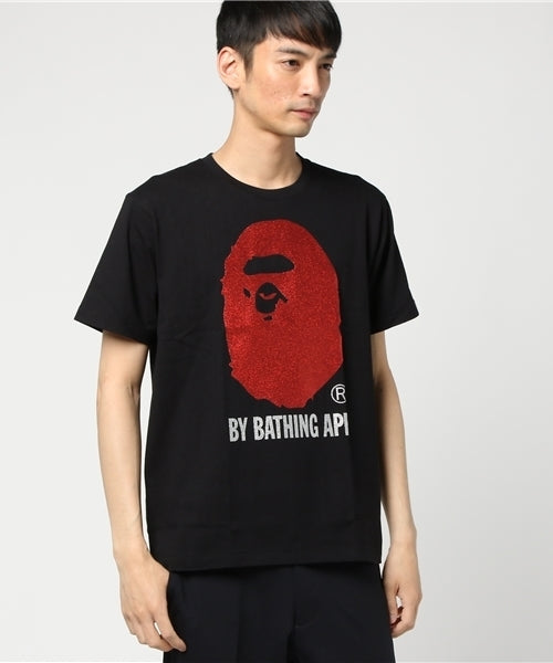 Glitter By Bathing Tee (Black/Red) - Bape
