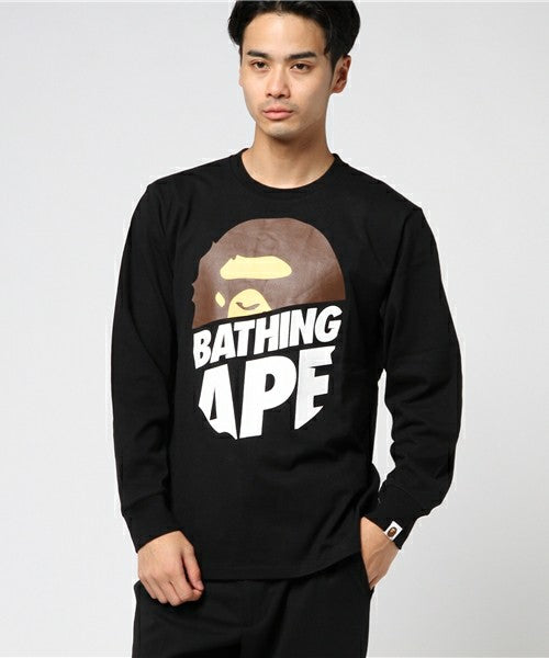 Peek Big Ape Head L/S Tee (Black) - Bape