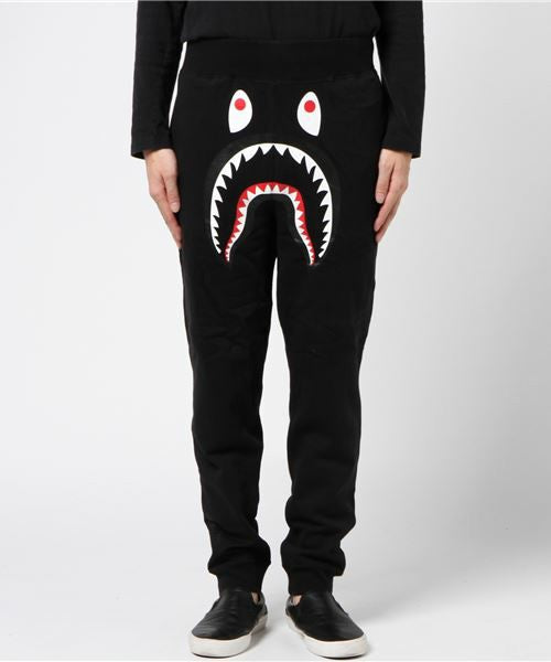 Shark Slim Sweatpants (Black) - Bape