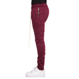 Fleece Zipper Pants (Wine) - EPTM