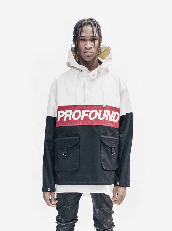 3 Tone Pullover Parka Jacket - Profound Aesthetic