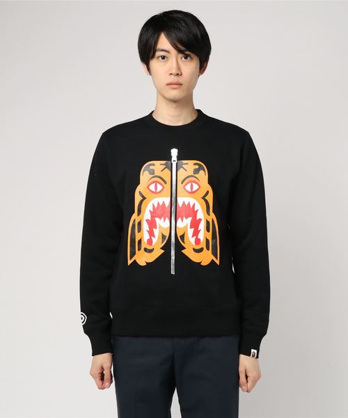 Tiger Heavyweight Crewneck (Black) - Bape