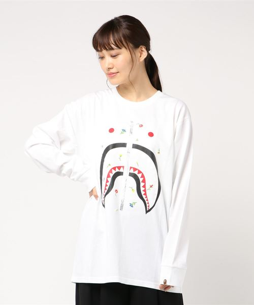 Flower Shark Oversized Long Sleeve - Bape Women's