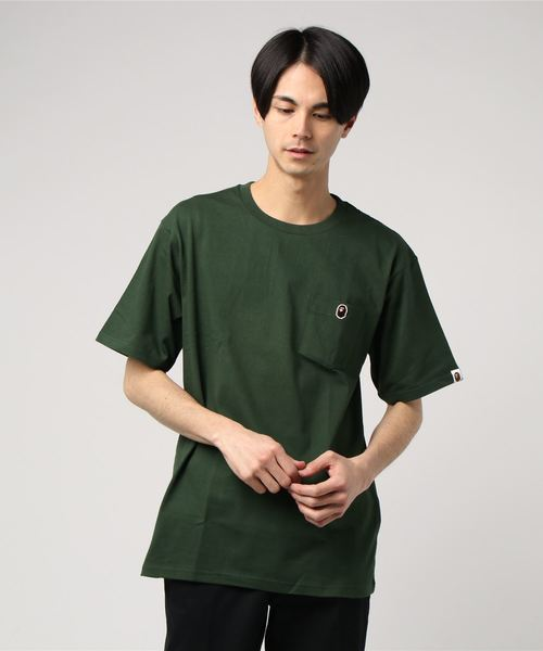 Ape Head One Point Pocket Tee (Green) - Bape