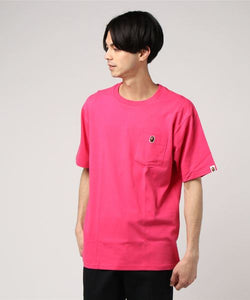 Ape Head One Point Pocket Tee (Pink) - Bape
