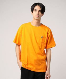 Ape Head One Point Pocket Tee (Orange) - Bape