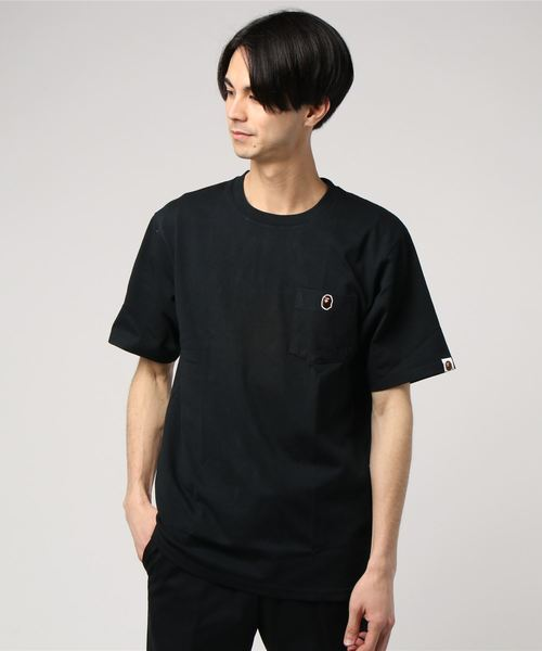 Ape Head One Point Pocket Tee (Black) - Bape