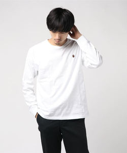 Ape Head One Point Long Sleeve (White) - Bape