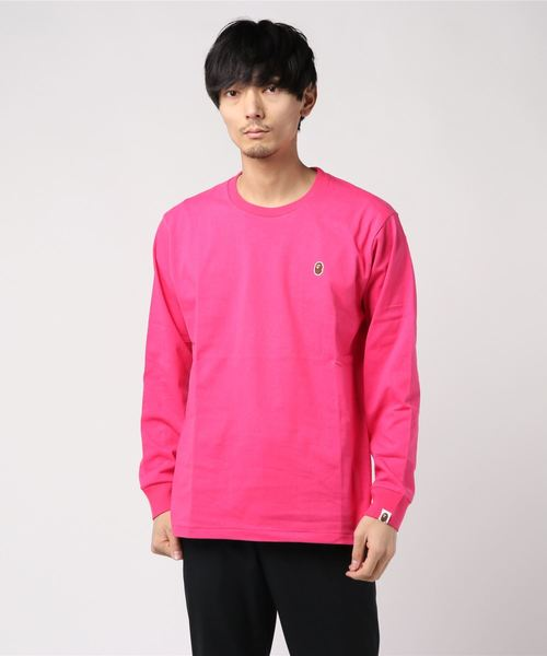 Ape Head One Point Long Sleeve (Pink) - Bape