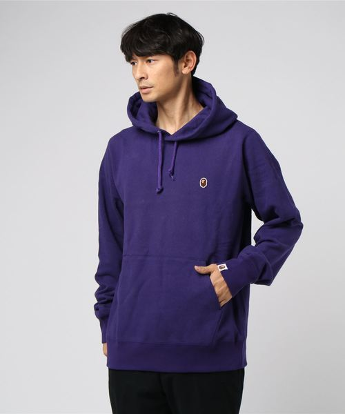 One Point Pullover Hoodie (Purple) - Bape