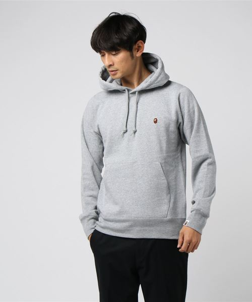 One Point Pullover Hoodie (Grey) - Bape