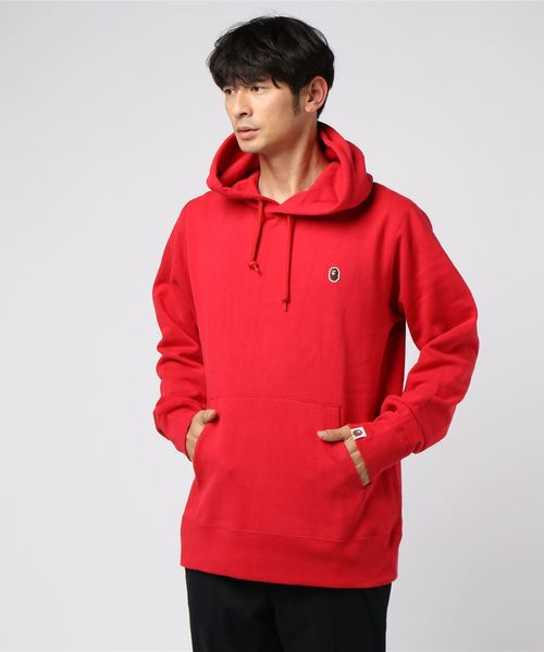 One Point Pullover Hoodie (Red) - Bape