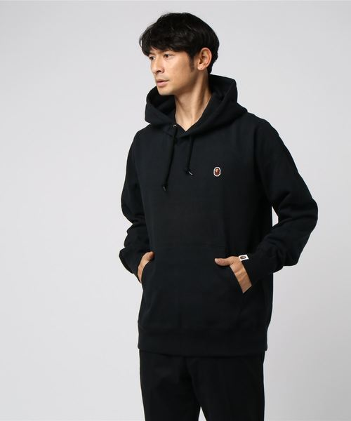 One Point Pullover Hoodie (Black) - Bape