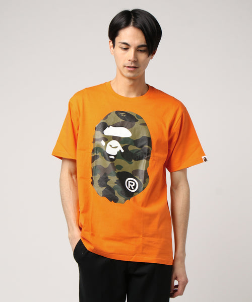 1st Camo Ape Head Tee (Orange) - Bape
